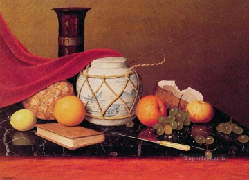 Still life Painting - Still Life with Ginger Jar William Harnett