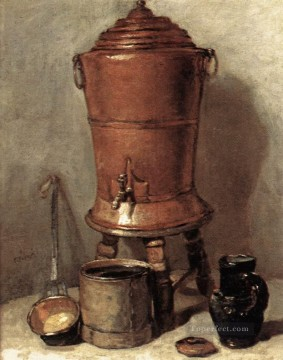 Still life Painting - The Copper Drinking Fou Jean Baptiste Simeon Chardin still life