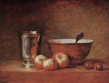 The silver cup Jean Baptiste Simeon Chardin still life Oil Paintings