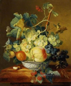 Margaretha Canvas - A Dish of Fruit Francina Margaretha van Huysum still life