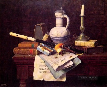 Emblems of Peace William Harnett still life Oil Paintings