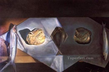 Still life Painting - Eucharistic Still Life 1952 Cubism Dada Surrealism SD