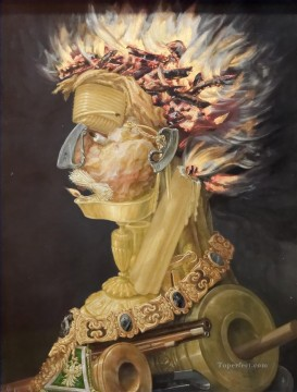 Fire Kunsthistorisches Museum Giuseppe Arcimboldo Classic still life Oil Paintings