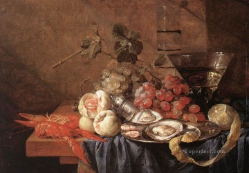 Still life Painting - Fruits And Pieces Of Sea still life Jan Davidsz de Heem