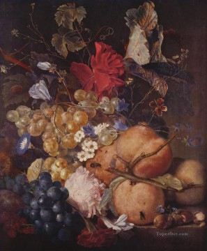 Fruits Flowers Jan van Huysum Classic Still life Oil Paintings
