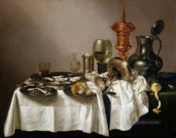 Classic Still Life Painting - Gilt still lifes Willem Claeszoon Heda