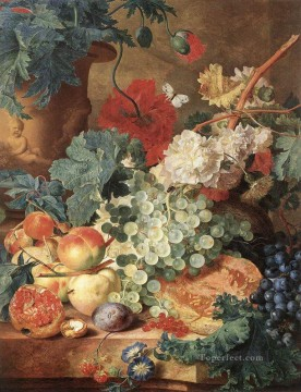 Artworks in 150 Subjects Painting - HUYSUM Jan Van Fruit Still Life Jan van Huysum