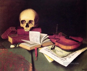 Classic Still Life Painting - Mortality and Immortality William Harnett still life