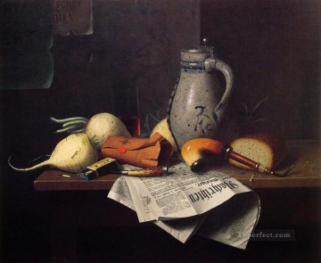 Still life Painting - Munich Still Life 1882 William Harnett