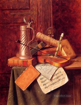 Still life Painting - Munich Still life William Harnett