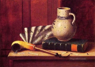 Still life Painting - New York Herald William Harnett still life