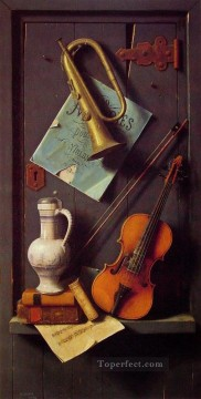 Classic Still Life Painting - Old Models William Harnett still life