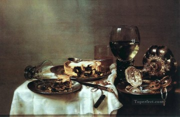 Still life Painting - Pie still lifes Willem Claeszoon Heda