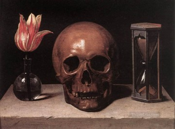 Still Life with a Skull religious Philippe de Champaigne Oil Paintings
