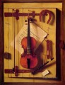 Still life Violin and Music William Harnett