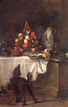 Still life Painting - The Buffet Jean Baptiste Simeon Chardin still life