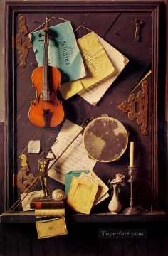 Still life Painting - The Old Cupboard Door William Harnett still life
