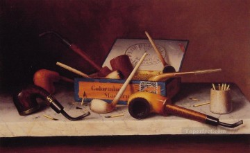 Still life Painting - The Social Club William Harnett still life