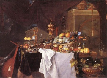 Classic Still Life Painting - A Table Of Desserts still life Jan Davidsz de Heem