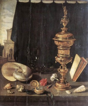 Classic Still Life Painting - Still life with Great Golden Goblet Pieter Claesz