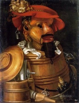 Still life Painting - The Waiter Giuseppe Arcimboldo Classic still life