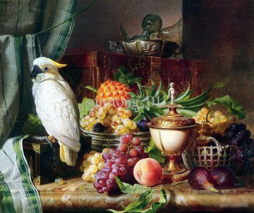 still life lifes Painting - handicraft parrot with still life Classic still life