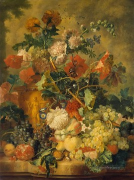 Classic Still Life Painting - Flowers and Fruit Jan van Huysum Classic Still life