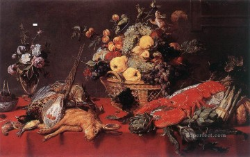 Classic Still Life Painting - Still Life With A Basket Of Fruit Frans Snyders