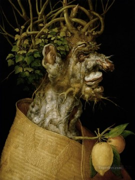 Still life Painting - man of tree Giuseppe Arcimboldo Classic still life