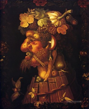 Autumn Giuseppe Arcimboldo Classic still life Oil Paintings