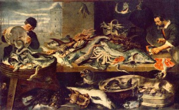 Still life Painting - Fish Shop still life Frans Snyders