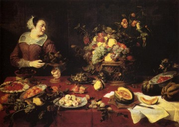 Still life Painting - The Basket Of Fruit still life Frans Snyders