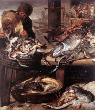 The Fishmonger still life Frans Snyders Oil Paintings
