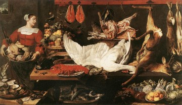 Classic Still Life Painting - The Pantry still life Frans Snyders