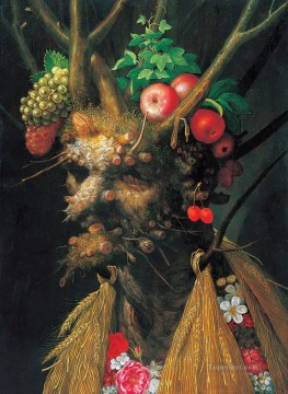 Still life Painting - man of plants Giuseppe Arcimboldo Classic still life