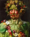 man of vegetable and flowers Giuseppe Arcimboldo Classic still life