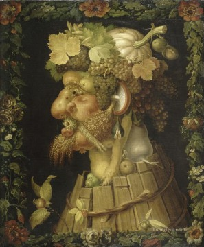Autumn 1573 Giuseppe Arcimboldo Classic still life Oil Paintings