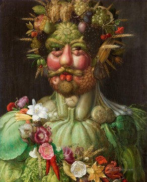 Rudolf II of Habsburg as Vertumnus Giuseppe Arcimboldo Classic still life Oil Paintings