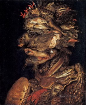 Water life Giuseppe Arcimboldo Classic still life Oil Paintings