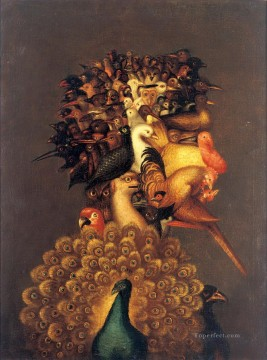 Still life Painting - man of birds Giuseppe Arcimboldo Classic still life
