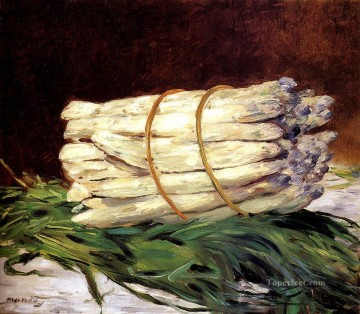 A Bunch Of Asparagus Impressionism Edouard Manet still lifes Oil Paintings
