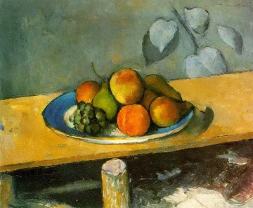pears Oil Painting - Apples Pears and Grapes Paul Cezanne Impressionism still life