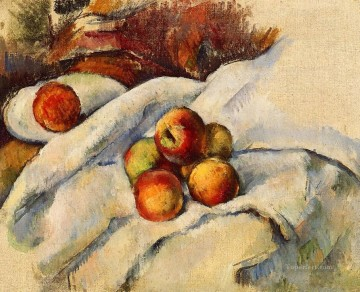 Still life Painting - Apples on a Sheet Paul Cezanne Impressionism still life