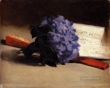 Still life Painting - Bouquet Of Violets Impressionism Edouard Manet still lifes