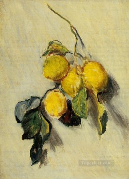 Branch Painting - Branch of Lemons Claude Monet still lifes
