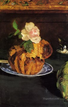 Still life Painting - Still Life with Brioche Eduard Manet