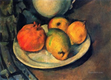 Still life Painting - Still Life with Pomegranate and Pears Paul Cezanne