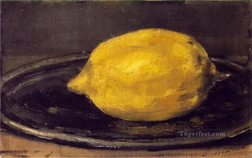 Still life Painting - The Lemon Eduard Manet Impressionism still life