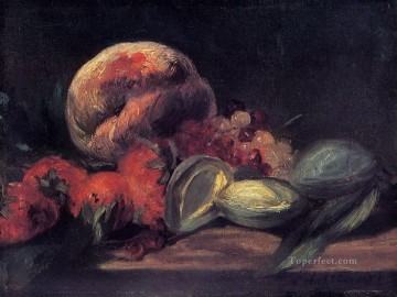 Still life Painting - Almonds currants and peaches Eduard Manet Impressionism still life