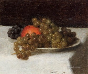 Still life Painting - Apples and Grapes Henri Fantin Latour still lifes